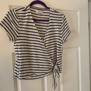 ❤️donating soon❤️ striped Madewell wrap top